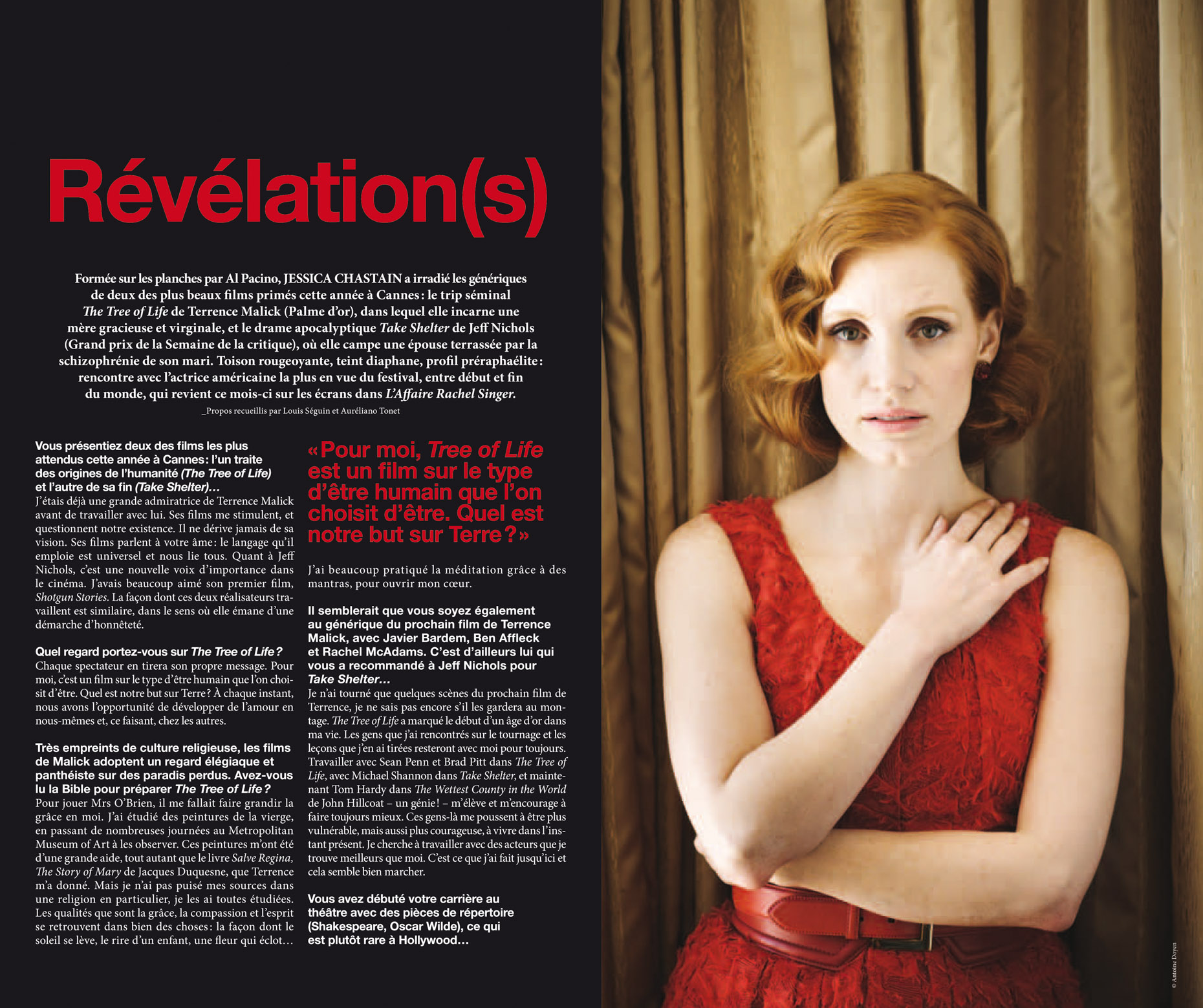 Jessica Chastain - MK2 Trois Couleur