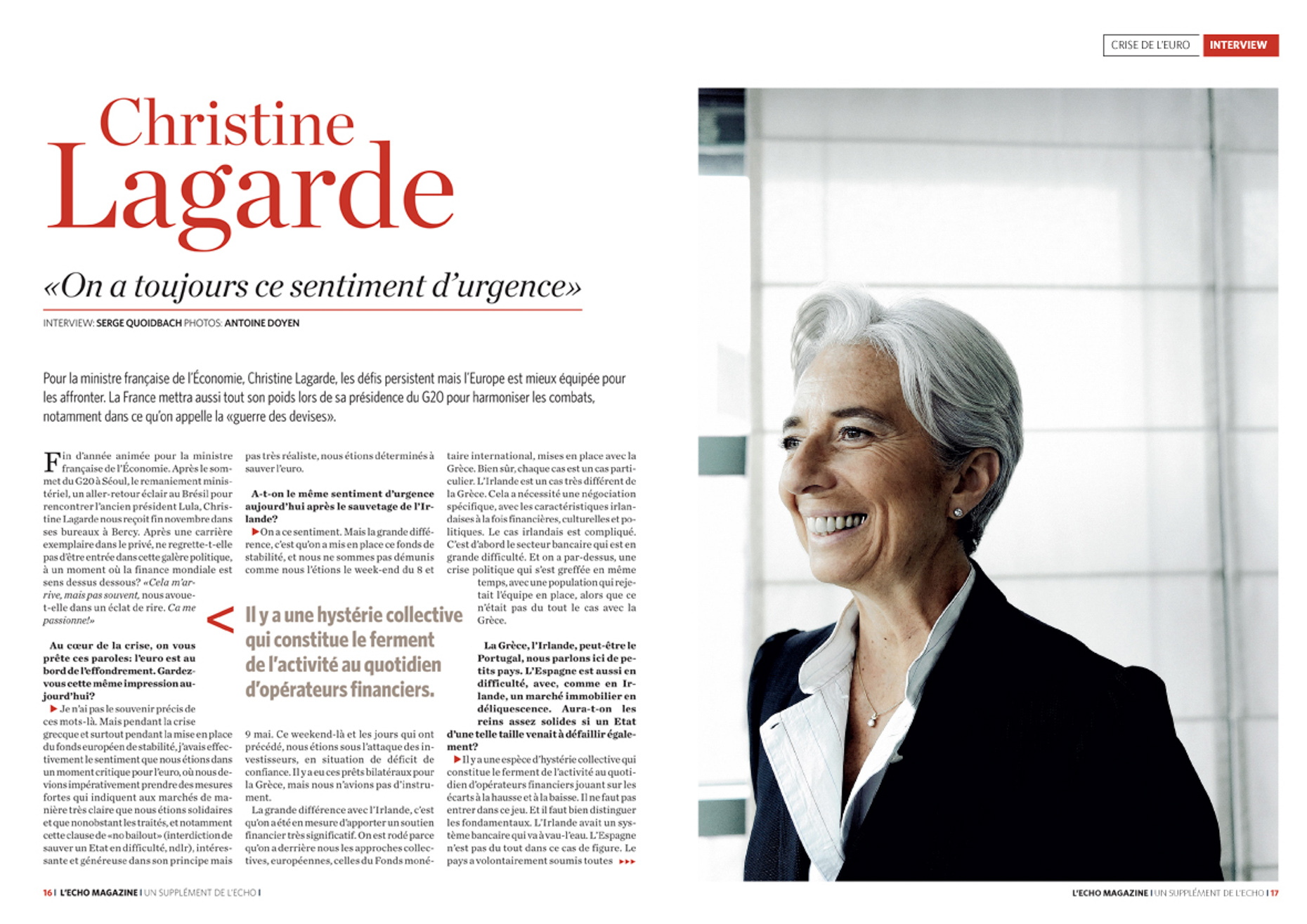 Christine Lagarde for De Tijd